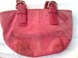 Pink Suede Leather Coach Purse in Chicago, Illinois
