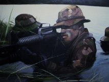Military painting in Fort Campbell, Kentucky