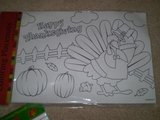 Thanksgiving Coloring Placemats in Bartlett, Illinois