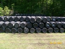 black plastic barrels  15 in Camp Lejeune, North Carolina