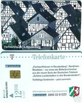 "Collector's Phone Card ""Fachwerkhauser in Freudenberg"" Pre-EURO (DM) in Baumholder, GE"