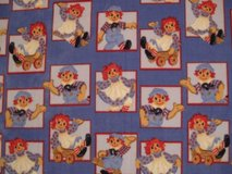 Hand-Crafted, Raggedy Ann & Andy Fleece Blanket in Fort Bragg, North Carolina