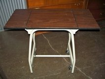 Mid Century Hasco Typing table stand small desk w/wheels adjustable LEAFS in Chicago, Illinois