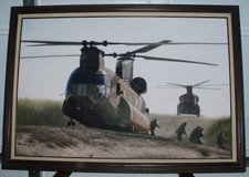 Military painting in Clarksville, Tennessee