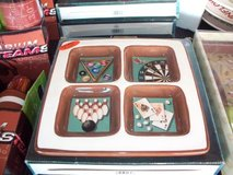 Multi sport ceramic 4 section tray FESTIVE New in Westmont, Illinois